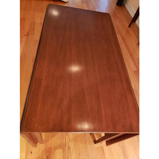 Mid 20th Century Vintage Mid-Century Modern Cherry Drop Leaf Pembroke Dining Table For Sale - Image 5 of 7