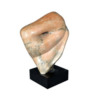 Signed Mid-Century Modern Abstract Marble Sculpture by Shapiro For Sale