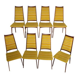 Mid-Century Danish Modern Rosewood Dining Chairs - Set of 8