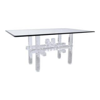 Lucite Skyscraper Dining Table For Sale