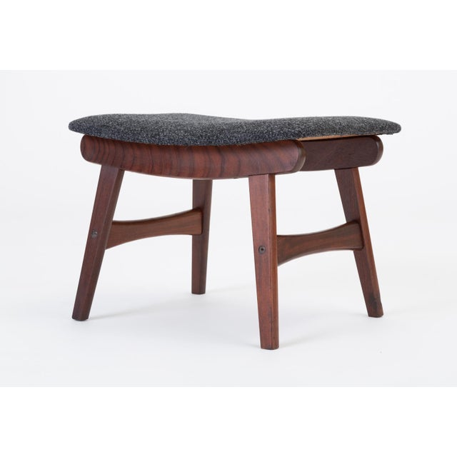 Scandinavian Modern Teak Ottoman With Upholstered Cushion For Sale - Image 9 of 13