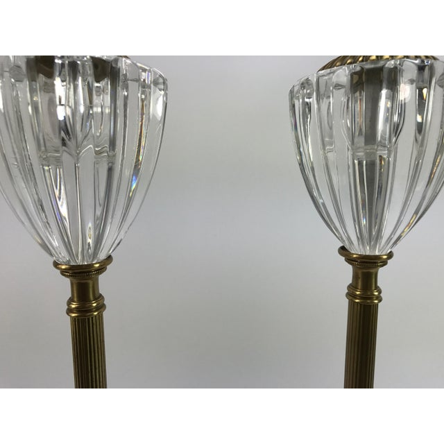 Frederick Cooper Brass & Lucite Buffet Lamps - A Pair - Image 4 of 10