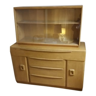 Heywood-Wakefield Credenza With Hutch