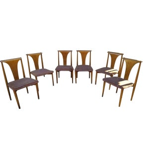Mid Century Modern Lawrence Peabody for Richardson Nemschoff Bentwood Dining Chairs - Set of 6 For Sale