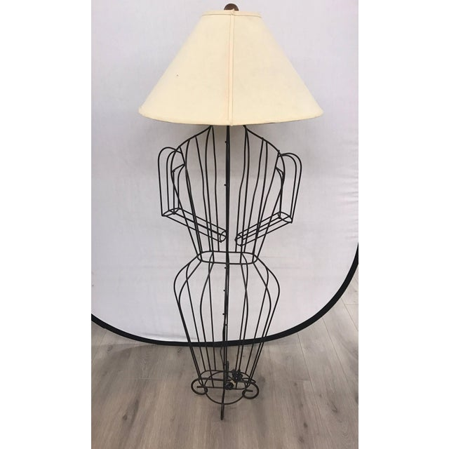 Mid-Century Modern Michele Rizzi Figural Wire Sculpture Dress Form Art Made in Italy For Sale - Image 3 of 6