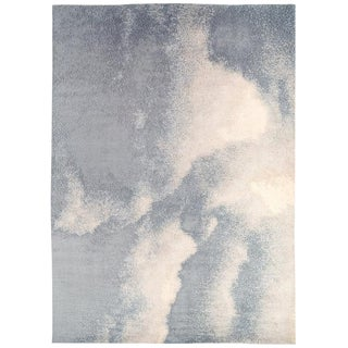 Abstract Organic Cloud Rug in Mohair by Carini, 10'x14' For Sale