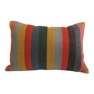 Striped Vintage Kilim Pillow Cover For Sale