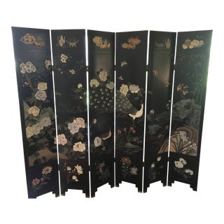 Mid 20th Century Six-Panel Chinese Coromandel Lacquer Screen For Sale