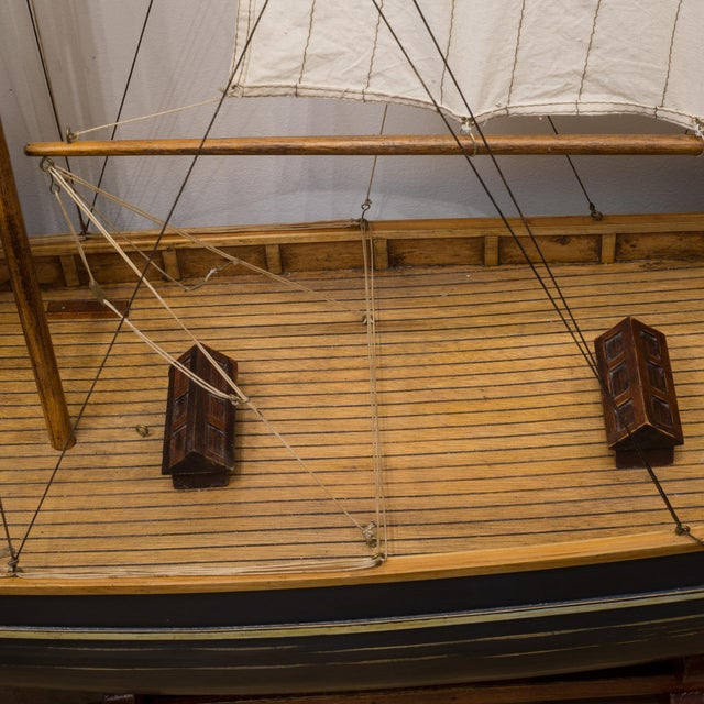 Early 20th C. Monumental Ship Model C. 1940 For Sale - Image 12 of 12