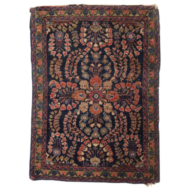 20th Century Persian Sarouk Accent Rug For Sale