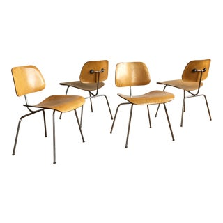 Vintage Herman Miller Eames Molded Plywood Chairs - Set of 4