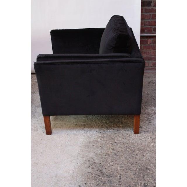 Pair of Danish Mogens Hansen Velvet Lounge Chairs - Image 5 of 10