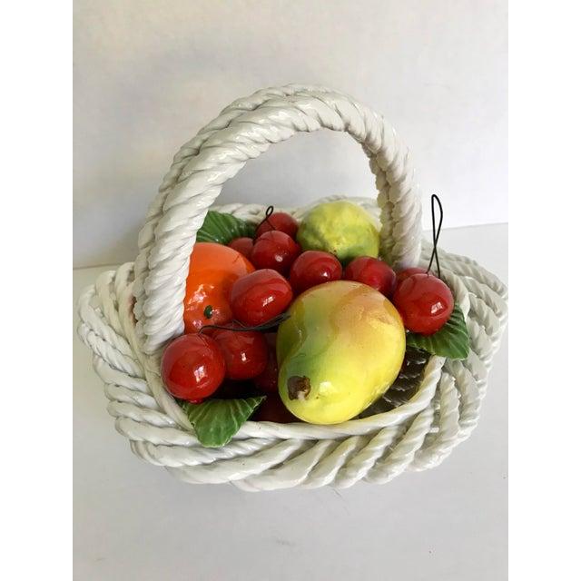 Italian 20th Century Italian Porcelain Fruit Basket For Sale - Image 3 of 5