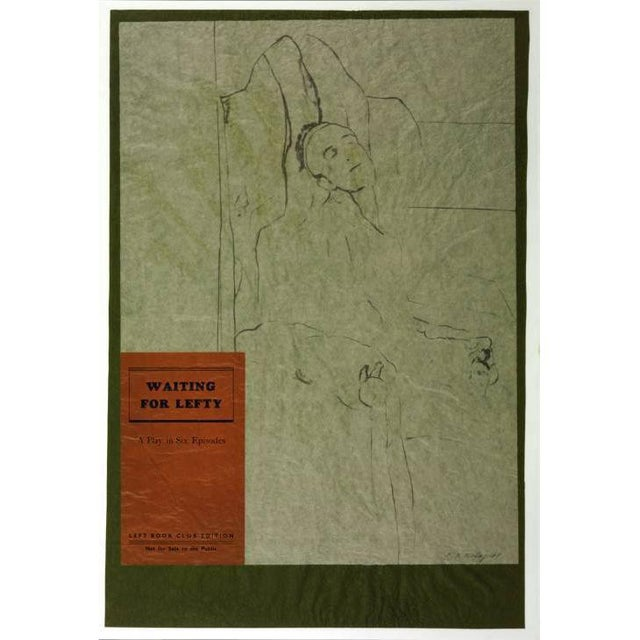 "slant select - ""Waiting for Lefty"" by R.B. Kitaj - Image 2 of 3"