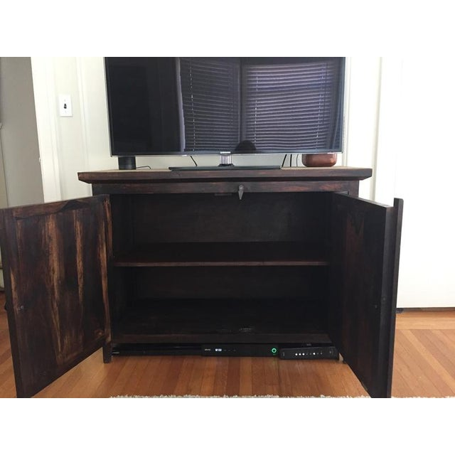 Shabby Chic Wooden Storage Cabinet For Sale - Image 9 of 10