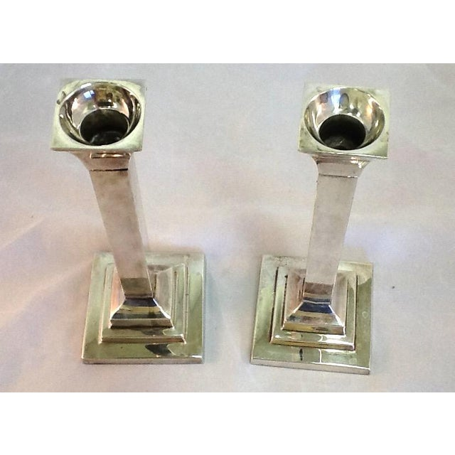 Vintage Silver Plate Candle Holders - Pair - Image 3 of 6