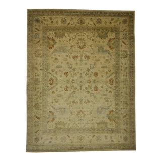 Transitional Oushak Style Rug with Modern Design