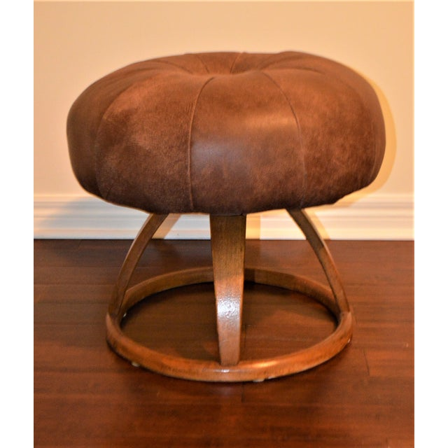 1950s Vintage Bentwood Swivel Stool For Sale - Image 10 of 10