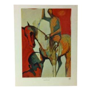 """Color Print on Paper, """"Equestrian Illusion - 1972"""" by George De Groat For Sale"""