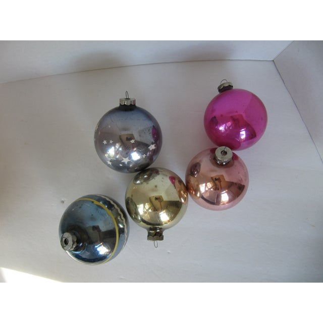 Christmas Ornaments Shiny Brite - S/5 - Image 5 of 6