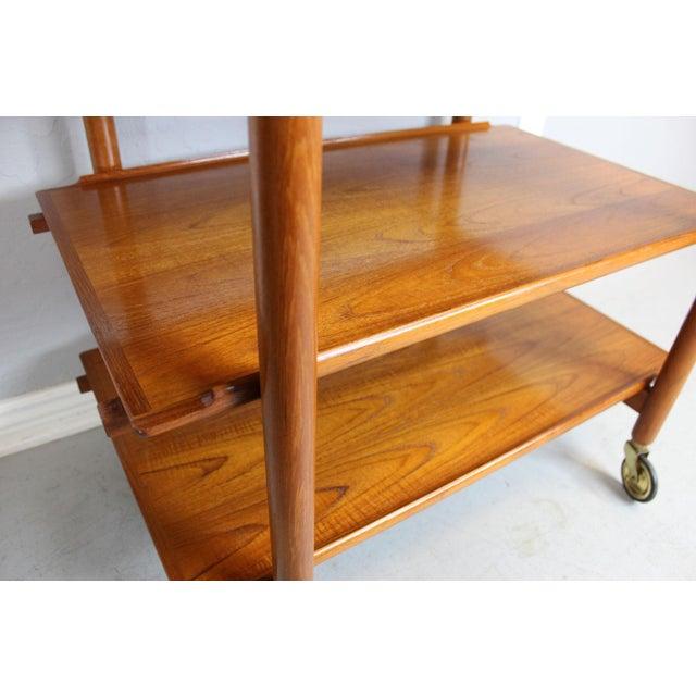 Poul Hundevad Serving and Bar Cart in Teak - Image 3 of 8