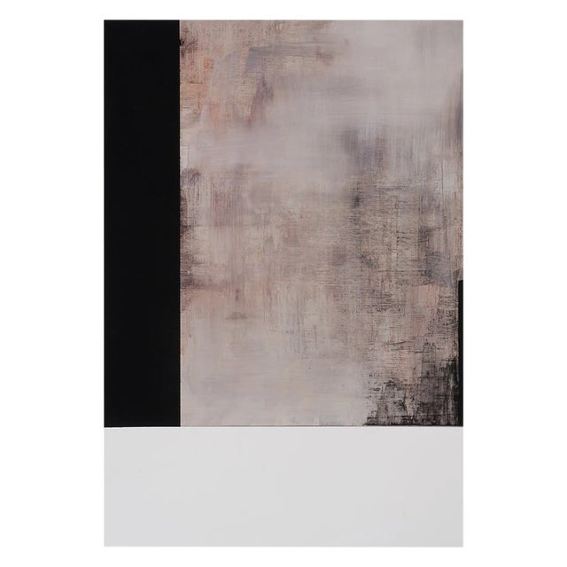 """Tamar Zinn """"At the Still Point 53"""" Abstract Oil Painting on Paper For Sale"""