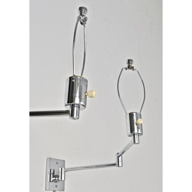Hansen Lighting Co. Hansen Chrome Swing Arm Sconces, 1970s For Sale - Image 4 of 8