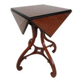 Image of 20th Century Traditional Baker Furniture Drop Leaf Handkerchief Side Table For Sale