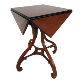 20th Century Traditional Baker Furniture Drop Leaf Handkerchief Side Table For Sale
