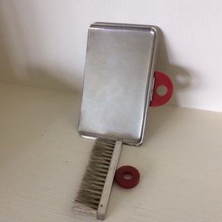 Vintage 50s Chrome Crumber With Red Bakelite Handles - 2 Piece Preview