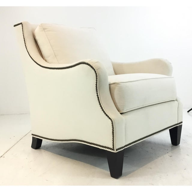 Thomasville Transitional White Natural Cotton Club Chair For Sale In Atlanta - Image 6 of 6