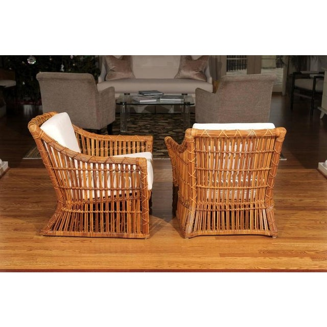 Magnificent Pair of Restored Vintage Rattan Club Chairs by McGuire - Image 9 of 10