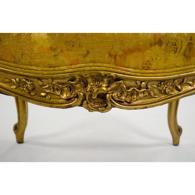 Early 20th C. French Louis XV Style Carved Giltwood Side Chairs - A Pair For Sale - Image 10 of 13