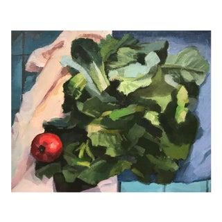 """""""Weekend Lettuces"""" Original Oil Painting"""