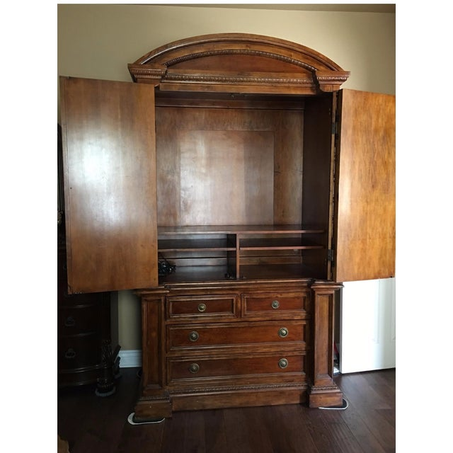 Hekman 2-Piece Armoire For Sale - Image 5 of 6