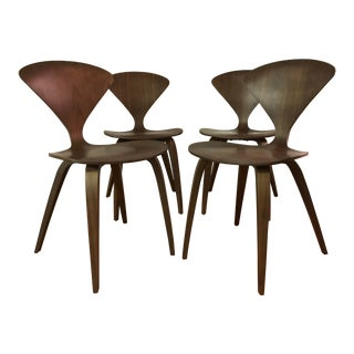 Cherner Walnut Dining / Side Chairs - Set of 4 For Sale