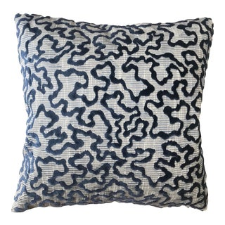 Schumacher Janis Velvet Pillow For Sale
