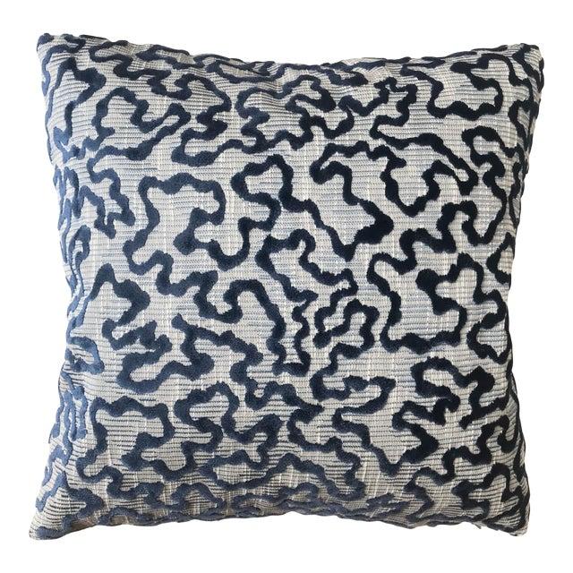 Schumacher Janis Velvet Pillow For Sale