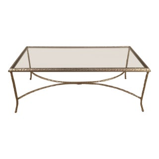 Silvered Bronze Cocktail Table by Maison Baguès For Sale