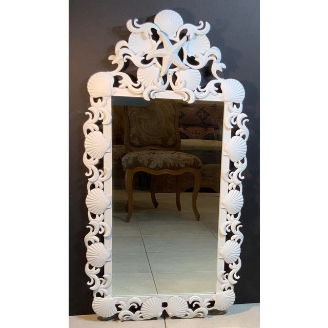 Sea Shell Iron Mirror For Sale - Image 12 of 13
