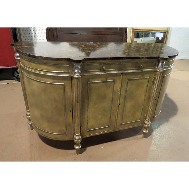Maitland Smith Faux Marble Top Commode For Sale - Image 13 of 13