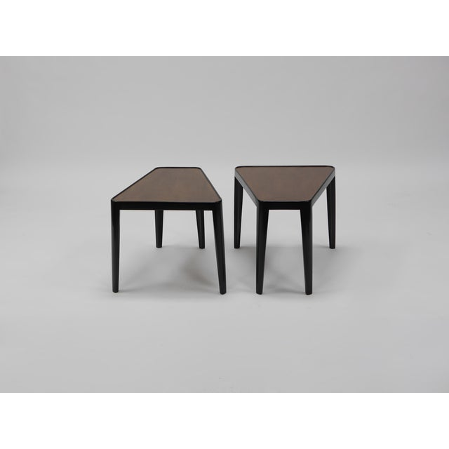 Edward Wormley Occasional Tables, Model 4809. Dunbar. Usa, Circa 1958. 2 Tone Lacquered Mahogany Measures: 22 W X 25 D X...