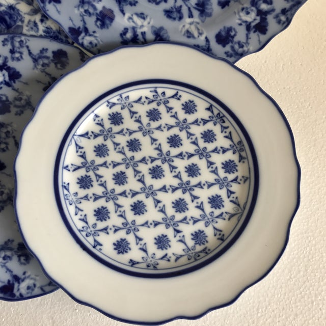Harry & David Blue and White Rose Dishes - Set of Six For Sale - Image 4 of 10