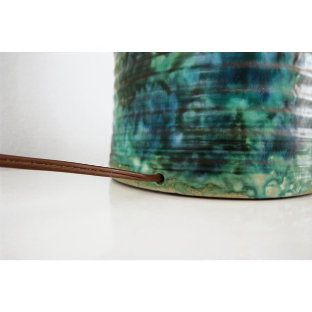 Gordon Martz Large Ceramic Pottery Lamp in the Style of Martz For Sale - Image 4 of 5