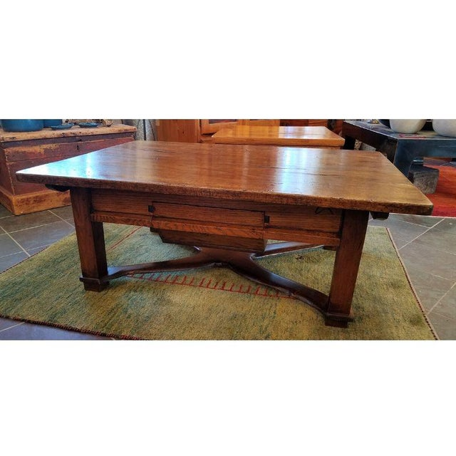 Rustic French Oak Coffee Table For Sale - Image 10 of 10