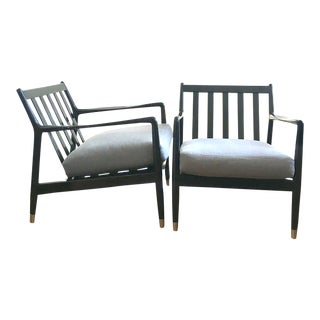 Vintage Mid Century Folke Ohlsson Lounge Chairs- a Pair For Sale