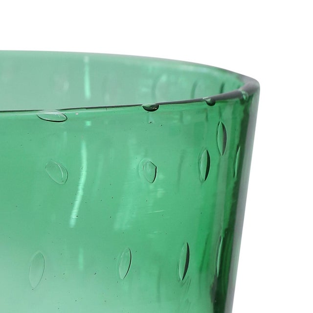Italian green glass vase by Empoli (circa 1960).