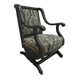 Antique Mahogany Empire Platform Rocking Rocker Lounge Chair For Sale