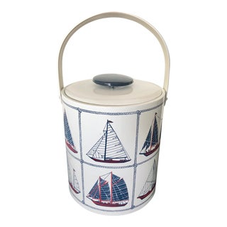 Vintage Georges Briard Sailboats Ice Bucket For Sale
