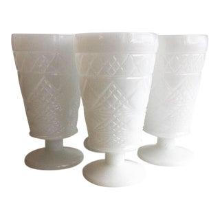 Vintage Iced Tea Peanut Butter Milk Glass - Set of 4 For Sale